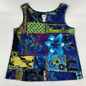 Chico's Printed Cotton Tank